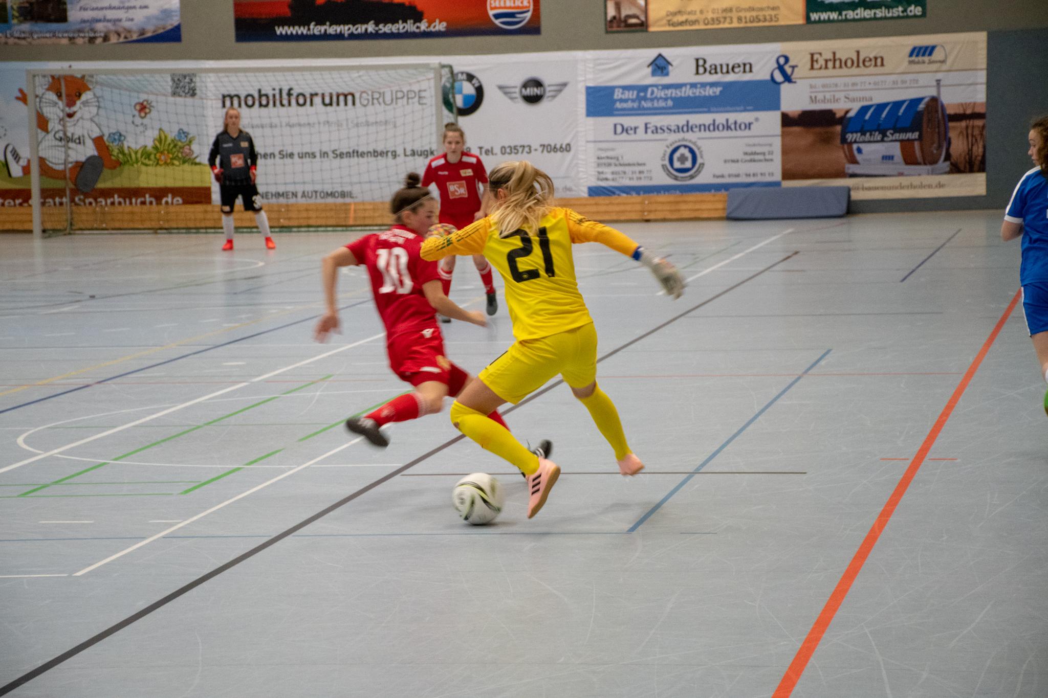 20190113  IDX6977, Frauenfußball, Großkoschen, Seesporthalle, Soccergolf Sachsen, Turnier