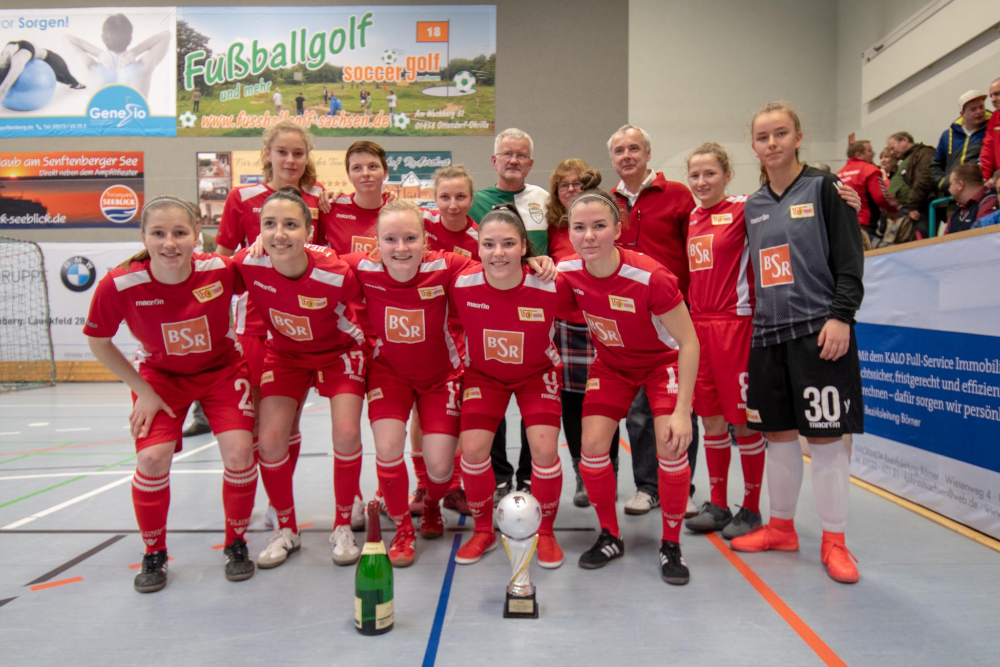 20190113  IDX7065, Frauenfußball, Großkoschen, Seesporthalle, Soccergolf Sachsen, Turnier